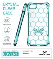 iPhone 7 Case, Ghostek Covert Series for Apple iPhone 8 Premium Hybrid Impact Protective Armor Case Cover | Clear TPU | Explosion-Proof Screen Protector | Ultra Fit | Bumper Spring Corners (Teal)