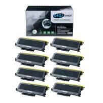 DIGITONER Compatible TN580 TN650 TN620 Toner Cartridge – TN-580 TN-650 TN-620 High Yield Toner Cartridge Replacement for Brother Laser Printer – Black [8 Pack]