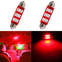 cciyu 42mm Festoon LED Bulbs 12SMD Red Super Bright Interior Car Lights 211 212-2 214-2 211-2 214-2 6411 560 569 578 fit for Dome Map Door Light Courtesy Light Bulbs Pack of 2