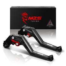MZS Short Levers Adjustment Brake Clutch Square CNC Black Compatible with Daytona 675 (not 675R version) 2006-2017|675 Street Triple R & RX (not Street Triple) 2009-2016| Speed Triple 2008-2010