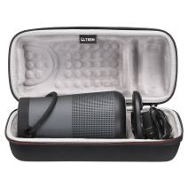 LTGEM Travel Protective Case for Bose SoundLink Revolve+ Portable & Long-Lasting Bluetooth 360 Speaker (Fits Charging Cradle, AC Adaptor and USB Cable)