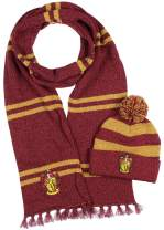 Harry Potter Hogwarts Houses Knit Scarf & Pom Beanie Set