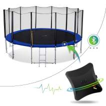 Welovejump Smart Heavy Duty Trampoline with Safety Enclousre Net, Ladder and Energy Jumping Detector, Bluetooth Wireless App