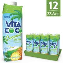 Vita Coco Coconut Water, Pineapple - Naturally Hydrating Electrolyte Drink - Smart Alternative to Coffee, Soda, and Sports Drinks - Gluten Free - 33.8 Ounce (Pack of 12)