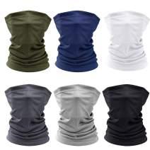 2PCS/4PCS/6PCS Sun UV Protection Face Mask Neck Gaiter Scarf Sunscreen Breathable Bandana Head Wear