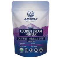 Organic Powdered Coconut Milk Cream - Aspen Naturals Coconut Cream Powder 1lb is ideal for adding Healthy Fats to your Ketogenic and Paleo Diets. A great addition to Coffee, Smoothies and Baked items.