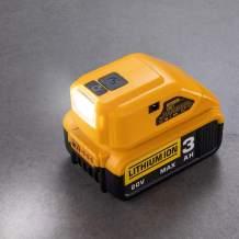 Battery Adapter for Dewalt 14.4V/18V/20V Lithium Ion Battery,DC Port & LED Work Light &Dual USB Charger,Power Source,Power Supply Compatible with Dewalt DCB090 DCB091