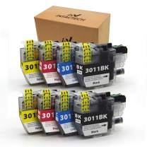 Intactech Compatible Ink Cartridges Replacement for Brother LC-3011 LC3011 BKCMY Work for Printer MFC-J491DW, MFC-J497DW, MFC-J690DW, MFC-J895DW 2 Sets-8 Pack (2 Black,2 Cyan,2 Magenta,2 Yellow)