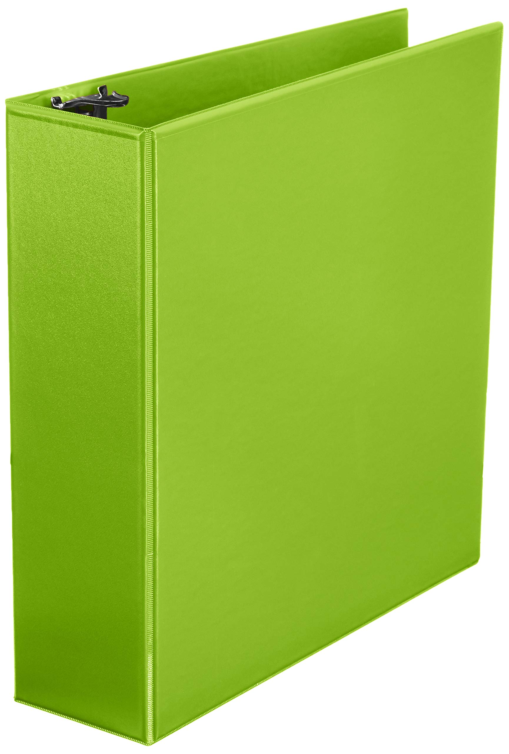 AmazonBasics 3-Inch Round Ring Binder, Green, View, 4-Pack