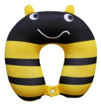 NIDO NEST Kids Travel Neck Pillow - Cute U-Shaped Animal Pillows for Car, Toddlers, Child Travel Gift Idea - Bumblebee