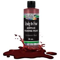 Pouring Masters Crimson Red Acrylic Ready to Pour Pouring Paint – Premium 8-Ounce Pre-Mixed Water-Based - for Canvas, Wood, Paper, Crafts, Tile, Rocks and More