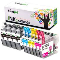 Kingjet 3013 Ink Replacements for Brother LC3013 Ink Cartridges Compatible with MFC-J487DW MFC-J491DW MFC-J497DW MFC-J690DW MFC-J895DW Inkjet Printers 10 Pack(2Set + 2BK)