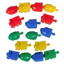 Learning Advantage Transportation Linking Blocks - Set of 36 - Ages 2+ - Connecting Blocks for Toddlers - Early Construction, Sorting and Fine Motor Skills