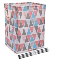 Scnvo Laundry Hampers with Handles Linen Basket for Laundry Storage,Laundry Bag Well-Holding Upgrade Foldable Laundry Hamper for Toys Clothing Organization