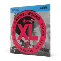 D'Addario Nickel Wound Electric Guitar Strings, 1-Pack, Heavy, 12-54