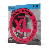 D'Addario Nickel Wound Electric Guitar Strings, 1-Pack, Heavy, 12-54