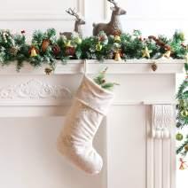 Berkshire Blanket Christmas Shimmer Snowflake Stocking, Cream