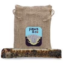 "Paws & Co - Naturally Shed Split Elk Antlers for Dogs, Liver Coated for Added Flavor, Dog Treats, Dog Chew, Elk Antlers, Great for Grain-Free Diet, Hand-Cut, for Large/XL Dog (XL Split, 8"")"