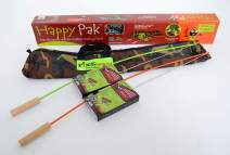 Happy Pak Marshmallow Roaster Sticks CAMO bag cooking, roasting hotdogs at backyard patio campfire. Extending Family Fun camping outdoors by fire pit cooking with skewers and forks making Smores pole.
