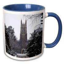 "3dRose mug_55281_6""Duke University Chapel, Durham"" Two Tone Blue Mug, 11 oz, Multicolor"