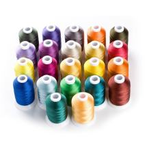 1000 Meters Huge Spool Polyester Embroidery Machine Thread Different Colors Set for Janome Brother Pfaff Babylock Singer Bernina Husqvaran Kenmore Machines (22 Colors)