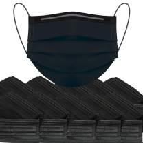Disposable Face Masks 500 Pcs Mask Black Bulk 3Ply Adult Facemask For Woman Mans Breathable