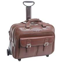 """McKlein USA Ceresola 15.6"""" Leather Wheeled Laptop Briefcase"""