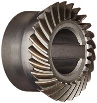 """Boston Gear SH192-G Spiral Bevel Gear, 2:1 Ratio, 0.625"""" Bore, 19 Pitch, 26 Teeth, 35 Degree Spiral Angle, Keyway, Steel with Case-Hardened Teeth"""