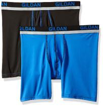 Gildan Men's Stretch Polyester Athletic Boxer Briefs, 2-Pack