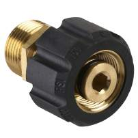 M MINGLE Pressure Washer Adapter, Metric M22 15mm Female Thread to M22 14mm Male Fitting, 4500 PSI