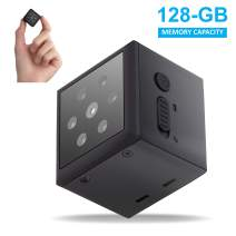 PIKOOO Mini Hidden Camera Nanny Camera with Night Vision Motion Detection - Wireless for Indoor Outdoor Use - 1080P HD- No WiFi Required -Security for Home or Business Support up to 128GB Memory Card