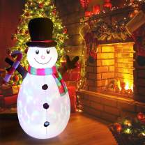 Outdoor Inflatable Christmas Decorations 5FT Built-in LED Colorful Lights Blow Up Snowman Christmas Inflatable Yard Decoration with Blower and Adaptor for Indoor and Outdoor Garden Lawn Xmas Decor