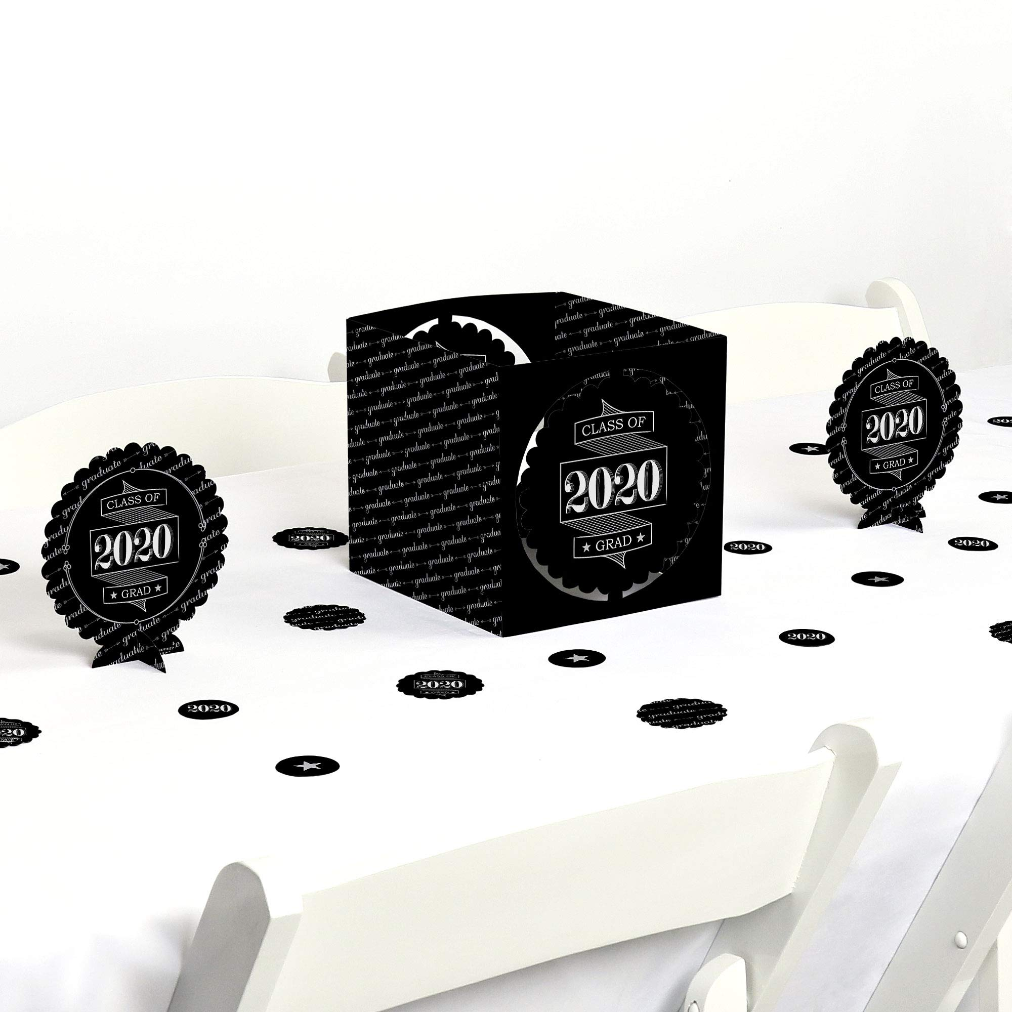 Big Dot of Happiness Graduation Cheers - 2020 Graduation Party Centerpiece & Table Decoration Kit