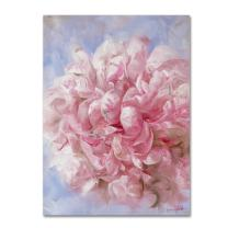 "Pink Peonie I Wall Decor by Li Bo, 35"" x 47"" Canvas Wall Art"