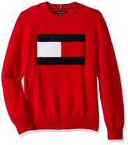 Tommy Jeans Men's Cotton Crew Neck Flag Sweater