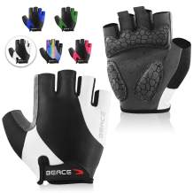 BEACE Cycling Gloves Bike Gloves Biking Gloves Half Finger MTB Road Bicycle Gloves for Men and Women-Breathable Anti-Slip Shock-Absorbing Pad Motorcycle Mountain Bike Gloves