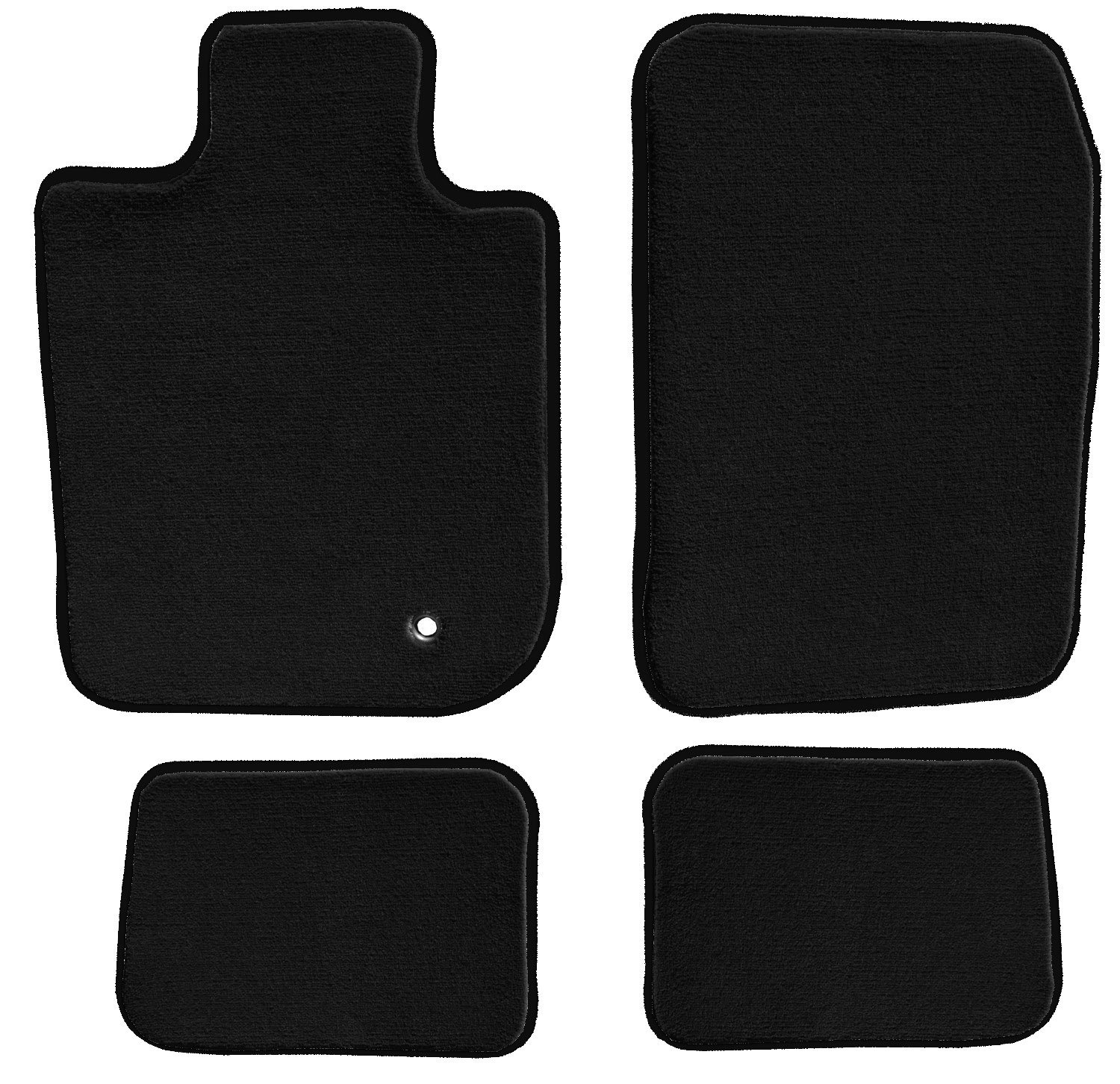 GGBAILEY D3846A-S1A-BK-LP Custom Fit Car Mats for 2008, 2009, 2010, 2011, 2012, 2013, 2014, 2015 Land Rover LR2 Black Loop Driver, Passenger & Rear Floor