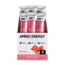 Optimum Nutrition Essential Amino Energy Individual Packs, Watermelon, Keto Friendly Preworkout with Green Tea and Green Coffee Extract, On-the-Go 6 Pack