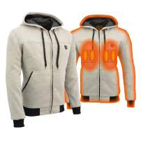 Milwaukee Leather Heated Zipper Front Men's Hoodie - Battery Pack Included (Silver, 4XLarge)