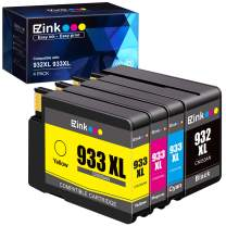 E-Z Ink (TM) Compatible Ink Cartridge Replacement for HP 932XL 933XL 932 933 to use with Officejet 6100 6600 6700 7110 7510 7610 7612 Printer (1 Black, 1 Cyan, 1 Magenta,1 Yellow) 4 Pack