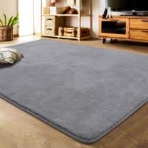 LOCHAS Soft Shag Area Rug for Bedroom Living Room, Cozy & Shaggy Modern Rugs, Washable Carpet for Kids Dorm Floor Mat, 4 x 6 Feet Gray