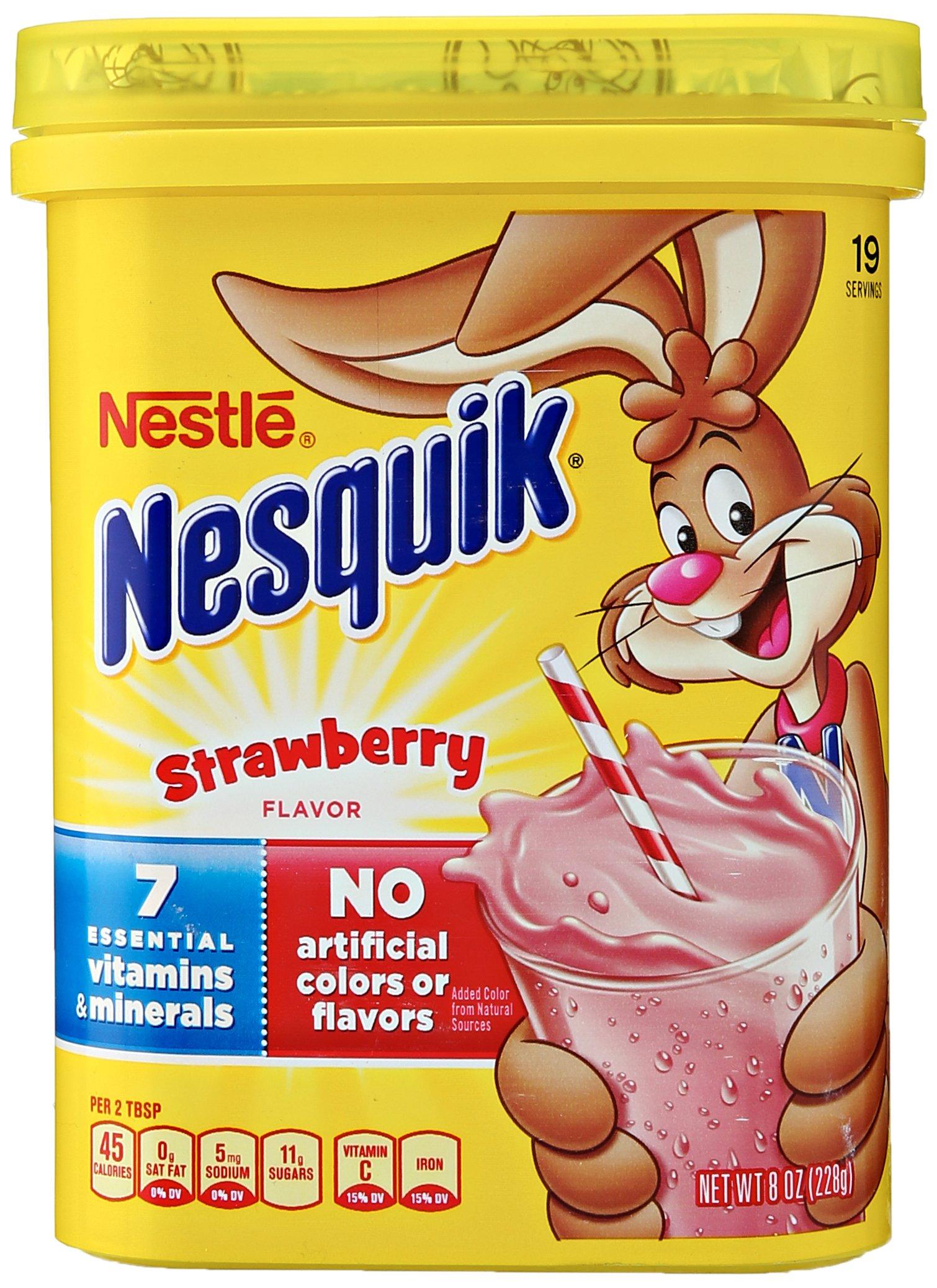 Nesquik Strawberry Flavored Powder, 8oz