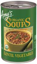 Amy's Organic Lentil Vegetable Soup, 14.5 Ounce (Pack of 12)
