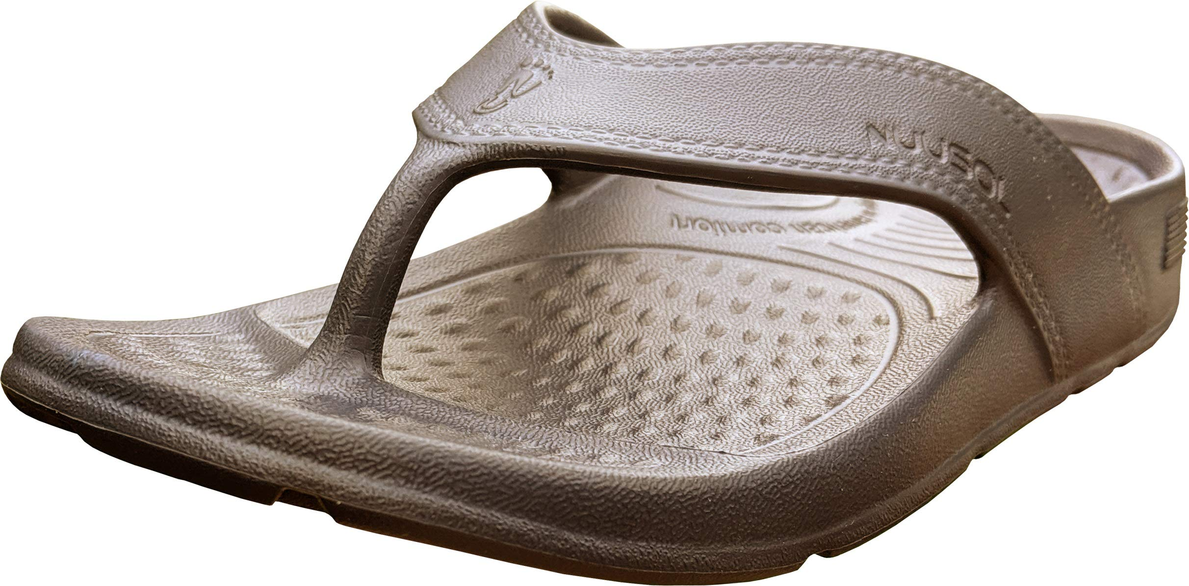 NUUSOL UnisexCascadeFlip Flops; Non-Slip Hiking/Plantar Fasciitis Footwear; Soft Cushion, Lightweight, Arch Support & Textured Footbed, Pain Relief for Joint, Neck & Back Injuries