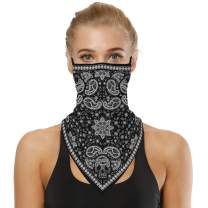 Face Bandana Balaclava, STRIPELAND Neck Gaiter Ear Loops Scarf Dust Wind Sun UV Protection Headwear