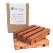 2 Pack Wood Soap Dish, 100% Natural Cedar, No Chemical Varnish, Lacquer or Stain is Used, Custom Made to Fit Our Soaps Exactly, Handmade in The USA (Soap Dish 2 Pack)