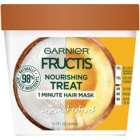 Garnier Fructis Nourishing Treat 1 Minute Hair Mask, 13.5 Fl Oz (Pack of 1) - Coconut