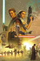 "Trends International Star Wars: Attack of The Clones - Celebration Mural, 22.375"" x 34"", Premium Unframed"