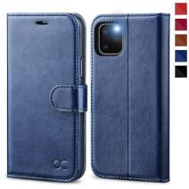 OCASE iPhone 11 Pro Case, Leather Wallet Flip Case with Card Holder Kickstand Magnetic Closure, TPU Shockproof Interior Protective Phone Cover Compatible for iPhone 11 Pro 5.8 inch 2019 (Blue)