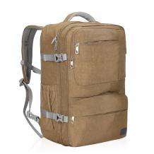 Hynes Eagle 44L Carry on Backpack Flight Approved Compression Travel Pack Cabin Bag, Khaki